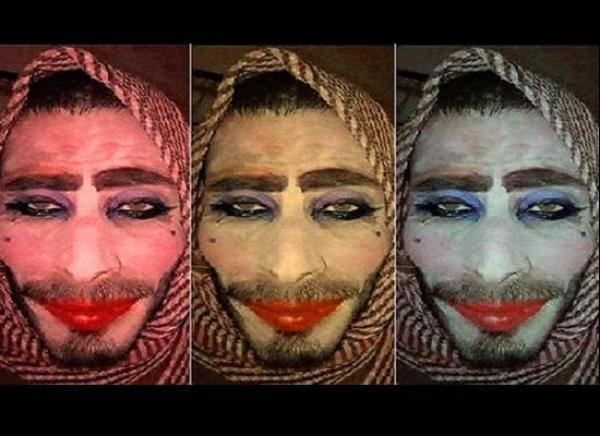 تعرف علي أغبى داعشي :تنكر كامرأة ونسي شاربه  (صورة)