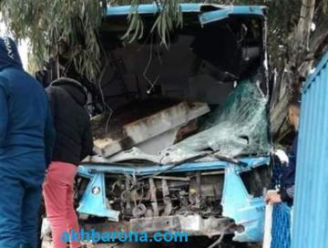 حادثة سير في طنجة بسبب حافلة